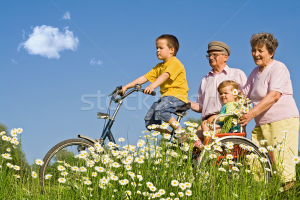 Ride with grandparents Stock photo © ilona75