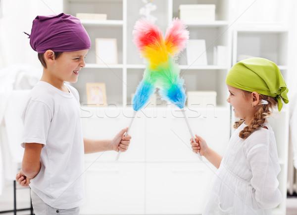 Jeden schludny pokój dzieci skupić Zdjęcia stock © ilona75