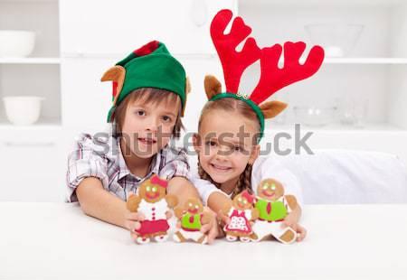 Happy christmas girl Stock photo © ilona75