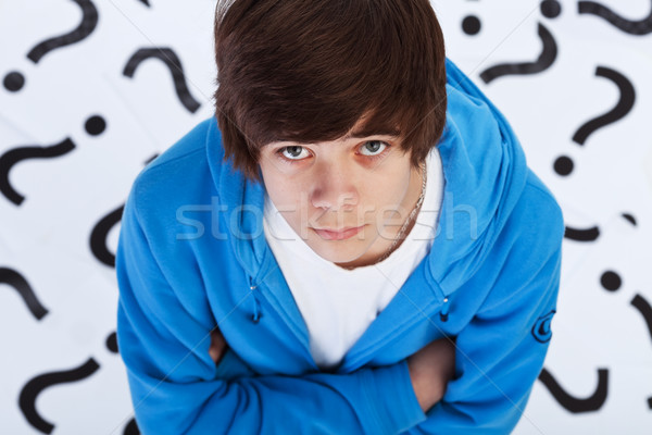 Quest of life - teenager boy wondering Stock photo © ilona75