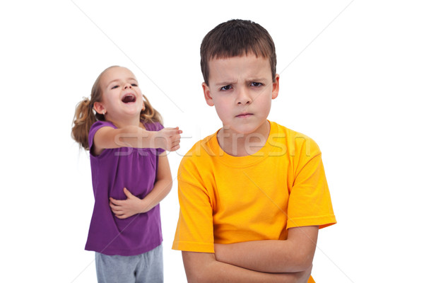Stock photo: School bully and mockery concept