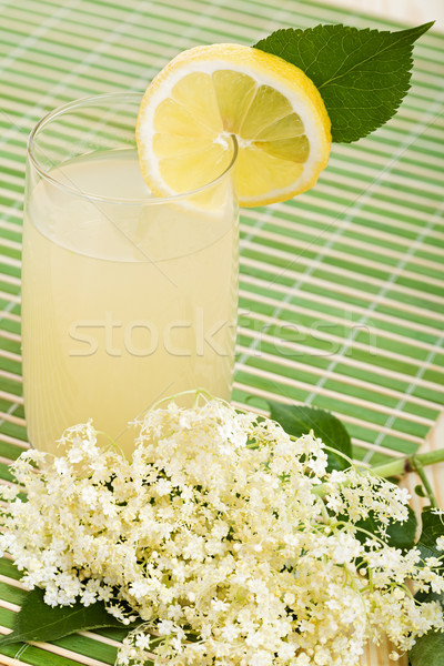 Elderberry flower flavored summer refreshment Stock photo © ilona75