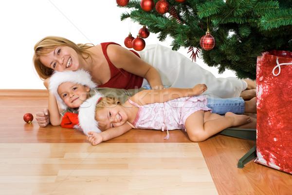 Сток-фото: Рождества · люди · счастливым · украшенный