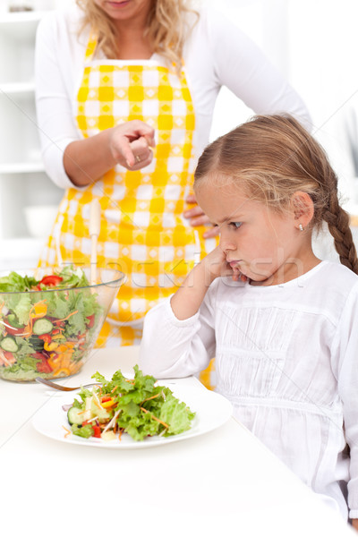 Stock photo: Training for a healthy eating habit