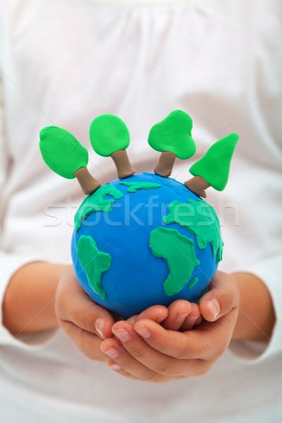 Ecologia ambiente árvores argila mundo criança Foto stock © ilona75