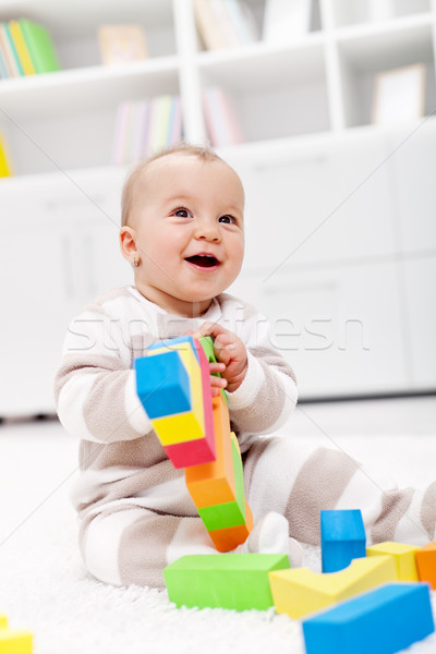 Happy baby girl Stock photo © ilona75
