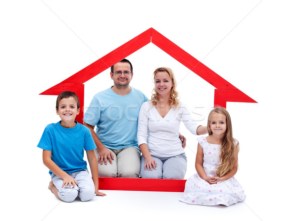 Young family in their home concept Stock photo © ilona75