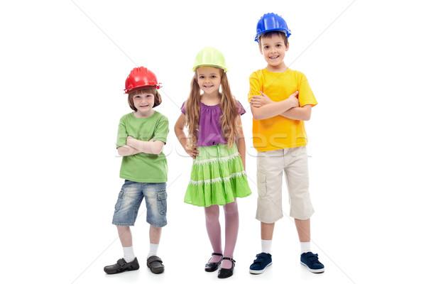 дети позируют профессиональный изолированный Сток-фото © ilona75