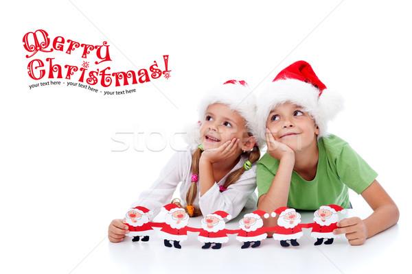 Happy christmas kids Stock photo © ilona75