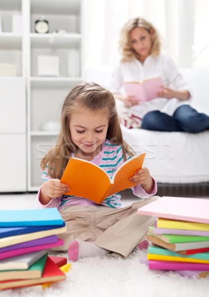 Habitude lecture enfants enseignement femme sourire Photo stock © ilona75
