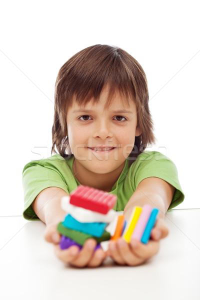 красочный глина стороны ребенка Сток-фото © ilona75