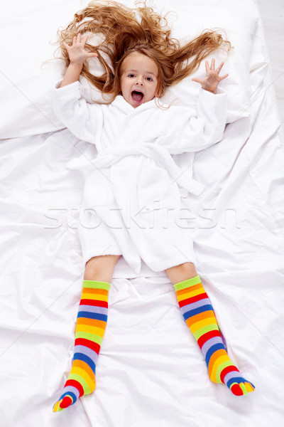 午前 女の子 アップ 幸せ 少女 ストックフォト © ilona75