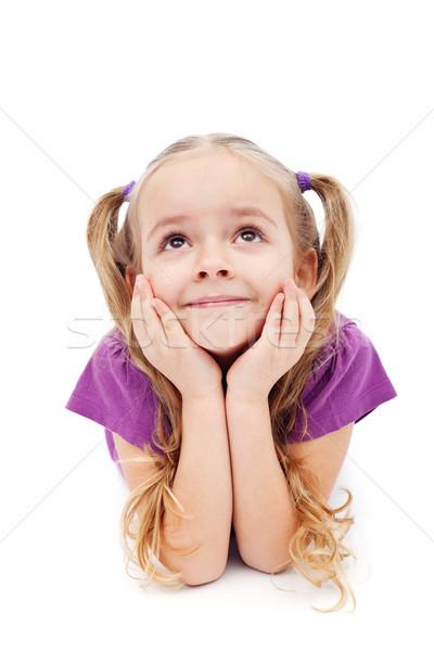 幸せな女の子 空想 少女 顔 幸せ ストックフォト © ilona75