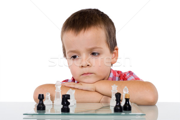 Boy solving a problem Stock photo © ilona75