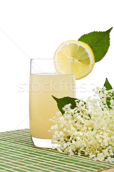 Elderberry flower flavored refreshing juice Stock photo © ilona75