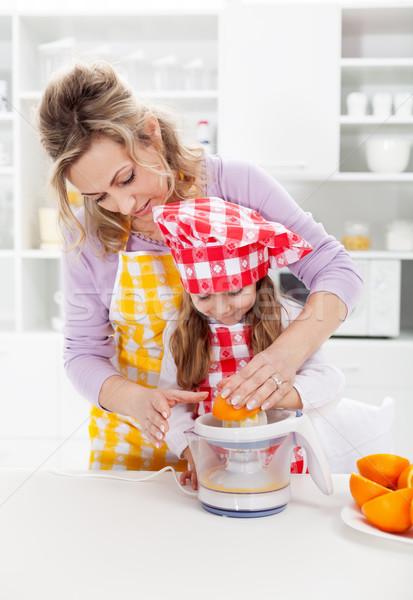 子供 健康食 生活 新鮮な ジュース ストックフォト © ilona75