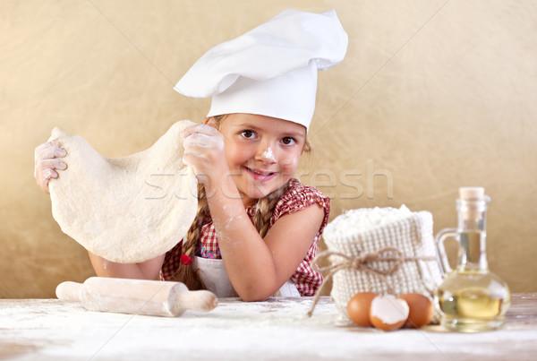 Foto d'archivio: Bambina · pizza · pasta · ragazza · alimentare
