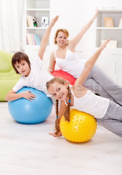 Healthy life concept with exercising people Stock photo © ilona75