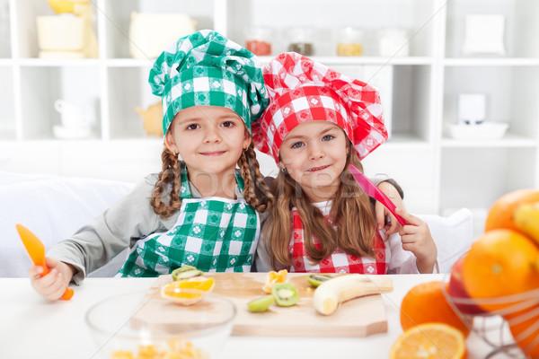 Сток-фото: мало · Повара · плодов · кухне · повар