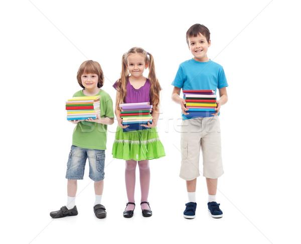 Enfants préparé école coloré livres Photo stock © ilona75