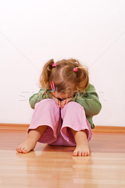 Unhappy baby girl Stock photo © ilona75