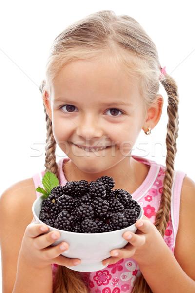Felice sani ragazza fresche Foto d'archivio © ilona75