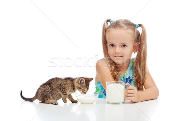 A little fresh milk is good for the little ones Stock photo © ilona75