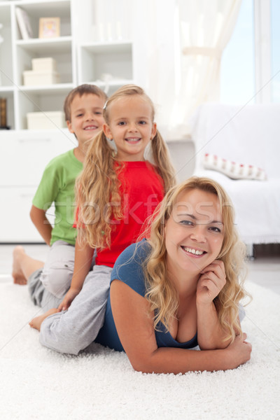 Photo stock: Famille · qualité · temps · femme · enfants