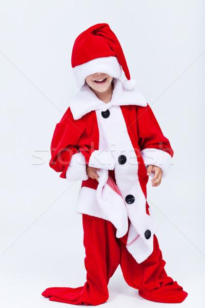Feliz ajudante grande natal traje Foto stock © ilona75
