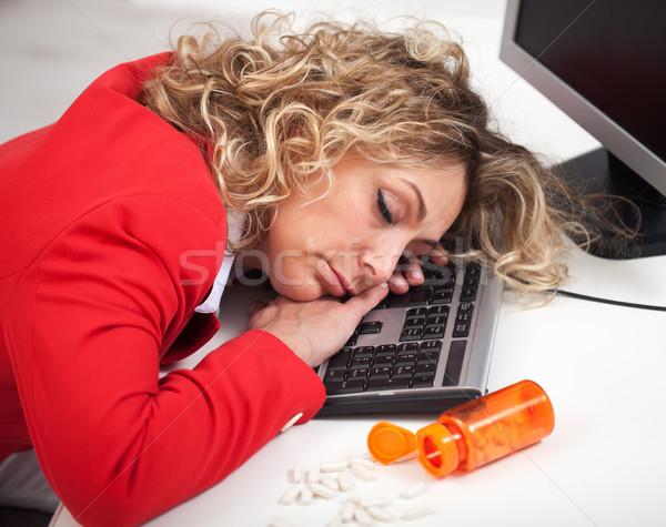 спящий служба женщину спальный энергии таблетки Сток-фото © ilona75