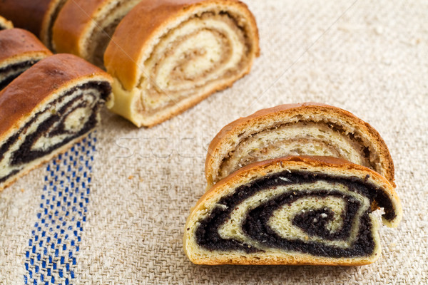 Stock photo: Beigli - hungarian poppy seed and walnut rolls