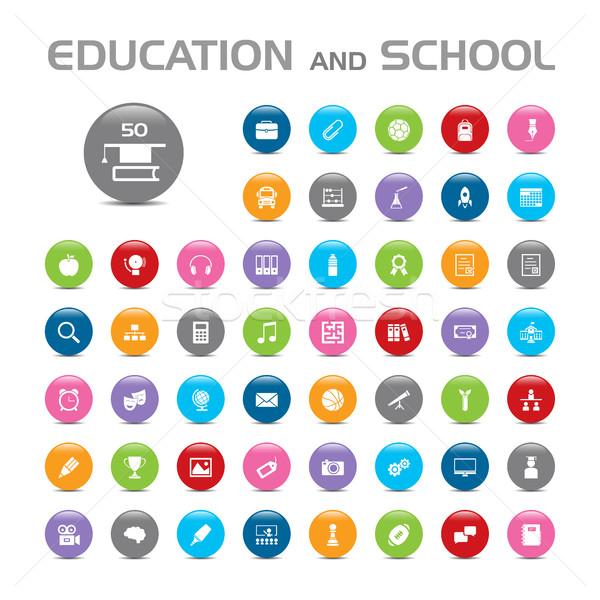 éducation école bulle pomme stylo Photo stock © Imaagio