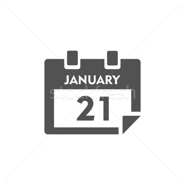 Odizolowany kalendarza ikona biały działalności papieru Zdjęcia stock © Imaagio