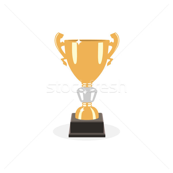 Trophy gold cup flat design on a white background. Award cup Stock photo © Imaagio