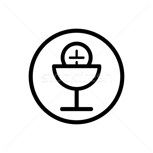 Communion line icon on a white background Stock photo © Imaagio