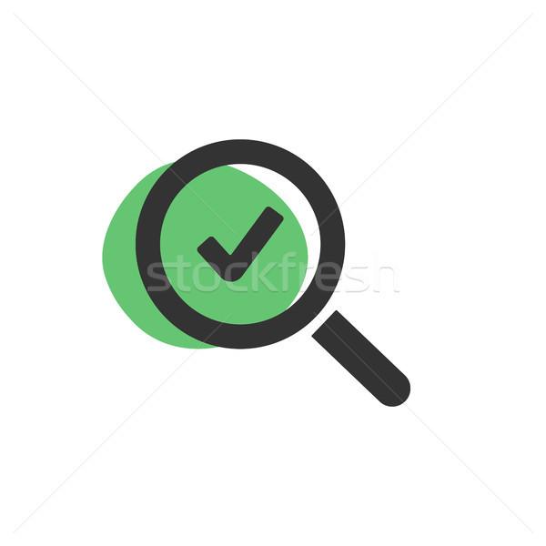 Lupa verificar isolado ícone web fundo Foto stock © Imaagio