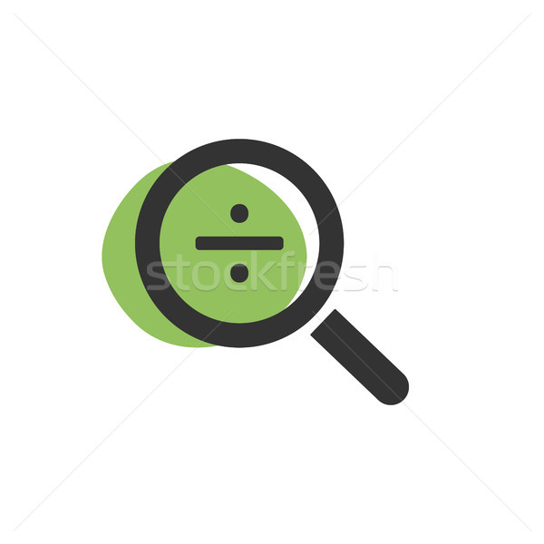 Magnifying glass divide icon on white background Stock photo © Imaagio