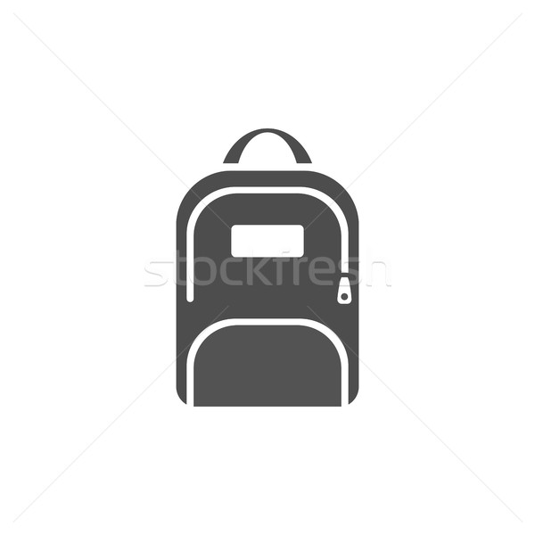 Dark backpack icon on a white background Stock photo © Imaagio