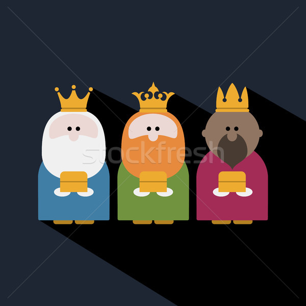 Three Kings on Epiphany day and a dark background Stock photo © Imaagio