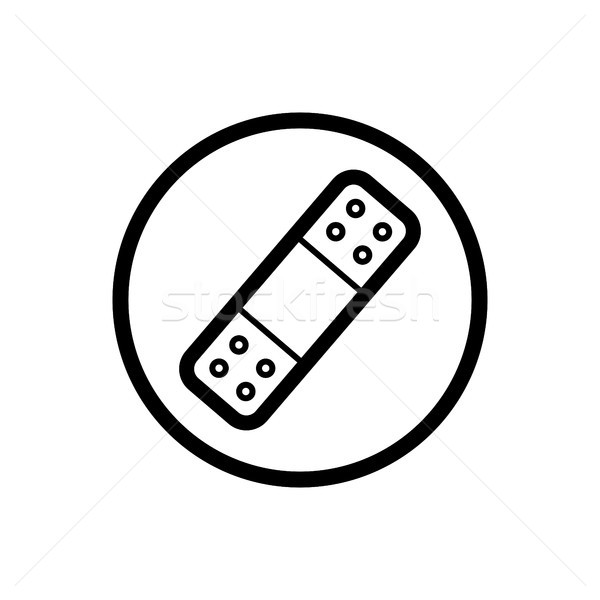 Band aid icon on a white background Stock photo © Imaagio