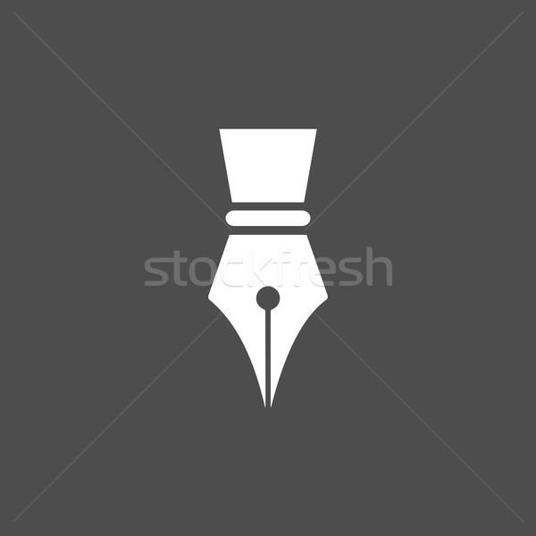 Füller Symbol dunkel Business Schule Bildung Stock foto © Imaagio