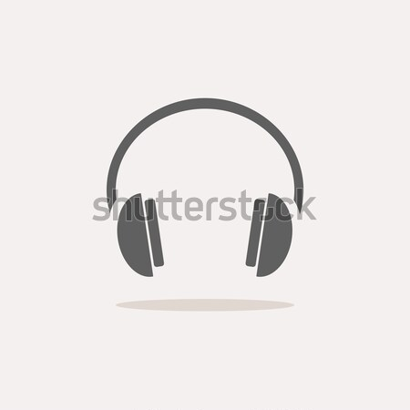 Isolated headphones icon on a white background with shade Stock photo © Imaagio