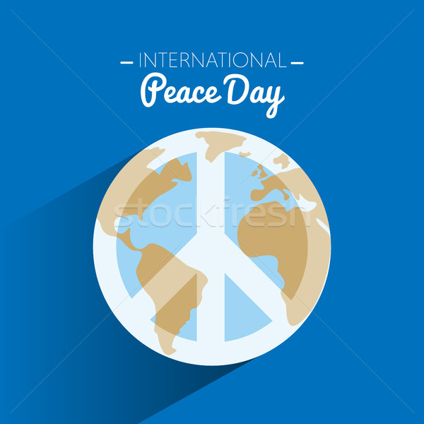 Międzynarodowych pokoju dzień symbol ziemi miłości Zdjęcia stock © Imaagio