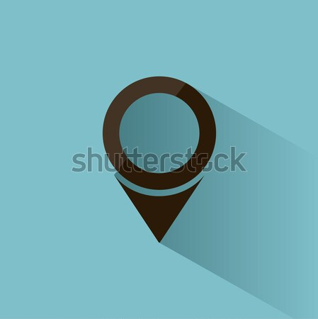 Isolated location icon for maps on a blue background with shade Stock photo © Imaagio
