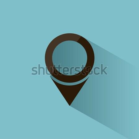 Isolado localização ícone mapas azul sombra Foto stock © Imaagio