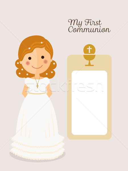 My first communion invitation with message  Stock photo © Imaagio