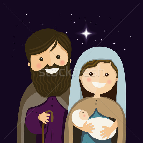Christmas Eve with Holy Familly Stock photo © Imaagio