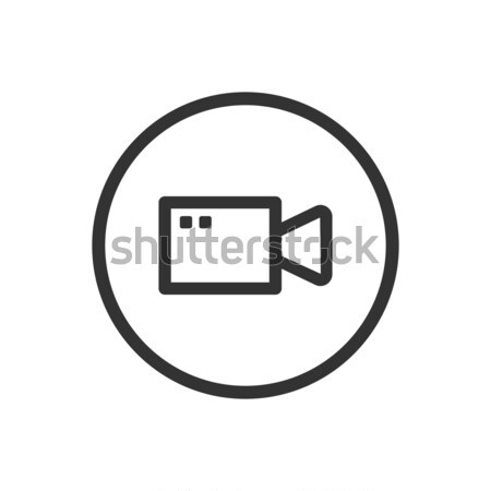 Line video icon on a white background Stock photo © Imaagio
