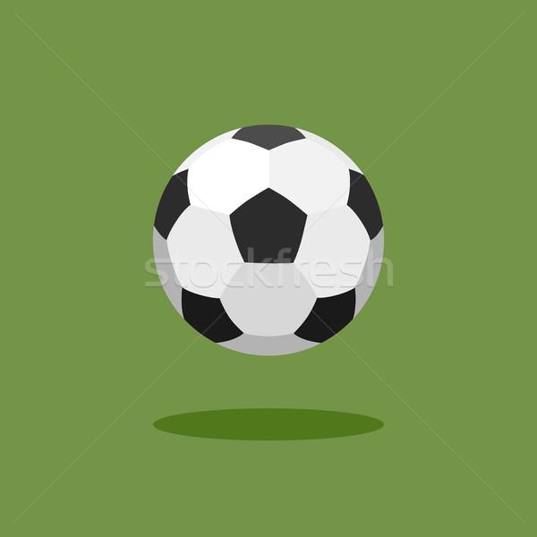 классический футбольным мячом зеленый спорт дизайна футбола Сток-фото © Imaagio