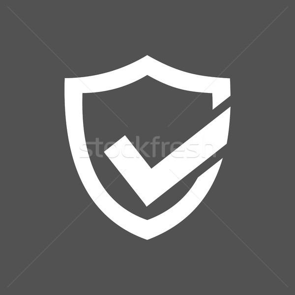 Active protection shield icon on a dark background Stock photo © Imaagio